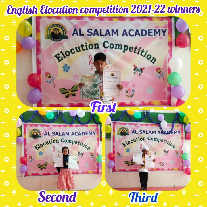 INTRA-SCHOOL ELOCUTION COMPETITION